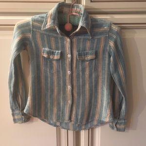 Vintage, 70's Girls Button Down Shirt